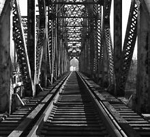 Black and White Rusty Railroad by ahedges