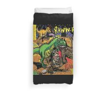 """Space Chick & Nympho: Vampire Warrior Party Girl Comix #1-  Comic Page """"Dino Fight"""" Duvet Cover"""