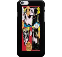 """Space Chick & Nympho: Vampire Warrior Party Girl Comix #1- Comic Page """"Feels Like A Kiss"""" iPhone Case/Skin"""