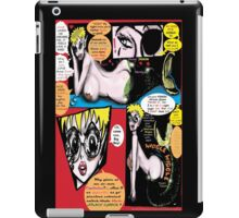 """Space Chick & Nympho: Vampire Warrior Party Girl Comix #1- Comic Page """"Feels Like A Kiss"""" iPad Case/Skin"""