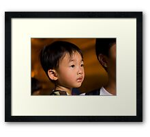 Young Buddhist Framed Print