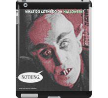 "'Count Orlock, the Vampire #3', FROM THE FILM "" Nosferatu vs. Father Pipecock & Sister Funk (2014)"" iPad Case/Skin"