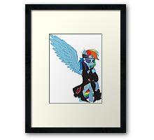 Akatsuki Rainbow Dash Framed Print