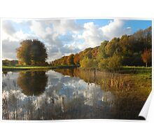 Landscape art in autumnal beauty Poster