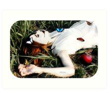 She Ate The apple Art Print