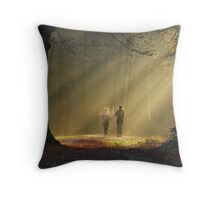 Early morning endeavour Throw Pillow