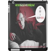 "'Count Orlock, the Vampire #4', FROM THE FILM "" Nosferatu vs. Father Pipecock & Sister Funk (2014)"" iPad Case/Skin"