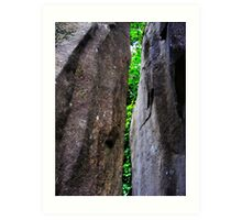 Cataract Gorge Rocks 1A Art Print