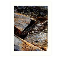 Cataract Gorge Rocks 1J Art Print