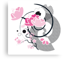 nihon pinky ink - 4 (from the series 'nihon pinky ink') Canvas Print