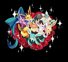 Eeveelution in roses by marishop