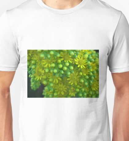 Green and yellow flowers Unisex T-Shirt