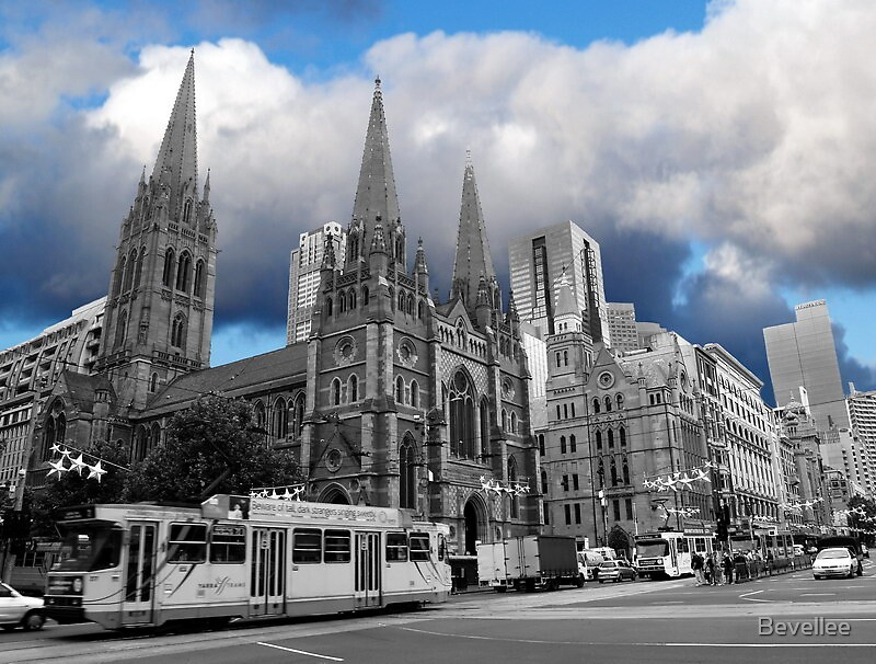St Pauls Cathedral Melbourne by Bevellee