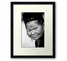 lovely wrinkles Framed Print