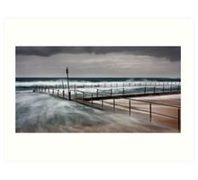 Newport Pool on a Stormy Crappy Morning Art Print