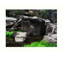 Cataract Gorge Rocks 1B Art Print