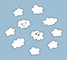 Blue Sky Happy Funny Clouds  Kids Clothes