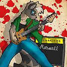Rockin out racoon by TehBurningDonut