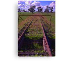 old railway tracks Canvas Print