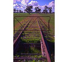 old railway tracks Photographic Print