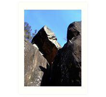 Cataract Gorge Rocks 1Q Art Print