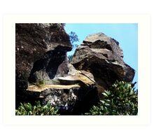 Cataract Gorge Rocks 1R Art Print