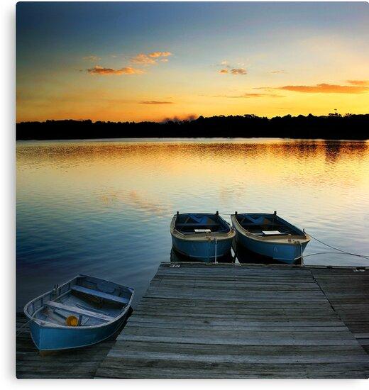 Three Boats by Annette Blattman