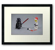 I find your abundance of Christmas faith disturbing Framed Print