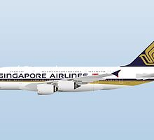 Wings In Uniform - A380 - Singapore Airlines by nADerL