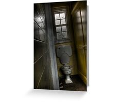 Tilted Toilet Greeting Card