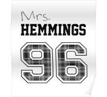 Mrs. Hemmings 96 white Poster