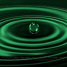 water drop green by fuxart
