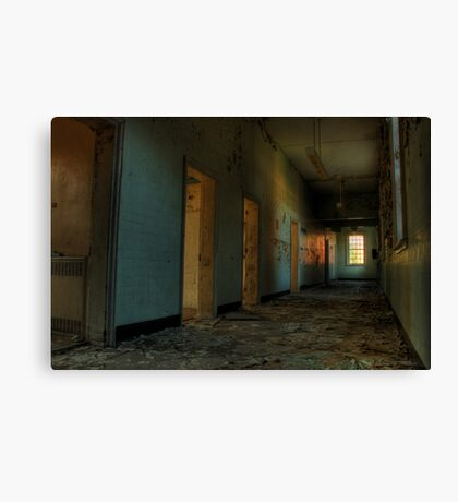 Blue and broken Canvas Print