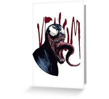 The Venom Symbiote - Spider-Man Greeting Card
