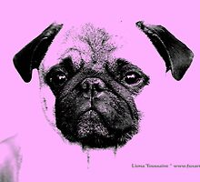 mops puppy baby pink by fuxart