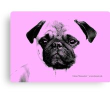 mops puppy baby pink Canvas Print