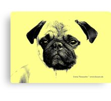 mops puppy yellow - french bulldog, funny, cute, love Canvas Print