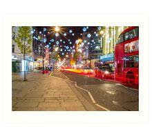 Christmas in London Art Print