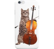 Cello Cat - Meowsicians iPhone Case/Skin
