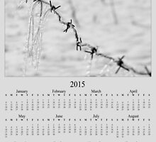 Barbed Wire Fence Ice Snow 2015 Calendar by Jacqueline Wilson