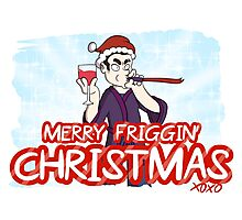 Merry Friggin' Christmas Photographic Print