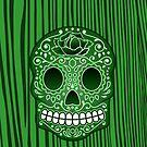 iPhone Art - sugar skull 1 by fenjay