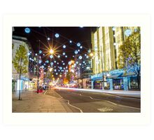 Christmas in Oxford Street Art Print