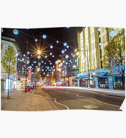 Christmas in Oxford Street Poster