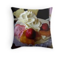 Ice Cream and Fruit Throw Pillow