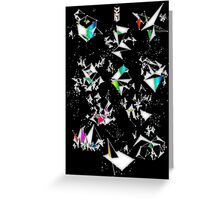 Digital Overlap - Positive Black Greeting Card