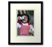 Red Bubble, here I come ... Framed Print