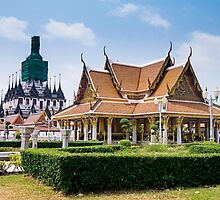Thailand Temples in Bangkok by jaymephoto
