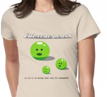 Eat Your Peas Womens Fitted T-Shirt