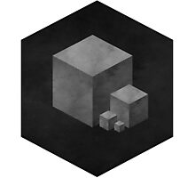 GREY CUBES Photographic Print